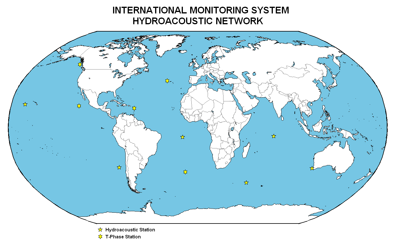 Hydroacoustic Station: Global distribution of the IMS Hydroacoustic Network